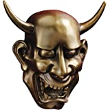 Design Toscano NOH Hannya Demon Mask Wall Sculptures, Multicolored