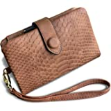 TOPKULL Womens Wallet Rfid Small Compact Bifold Leather Wallet,Ladies Wristlet Clutch Zipper Coin Purse