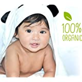 Baby hooded towel JJL Snuggle - 100% Organic made from Bamboo a complete new born babies & kids up to 8yrs Gift set - 90 cm x