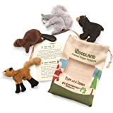 Folkmanis Woodland Animal Finger Puppet Set