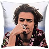 ZAZAHUI Lovely Harry Styles Pillow Case Casual Pillowcase Custom Cotton & Polyester Soft Square Zippered Cushion Throw Case P