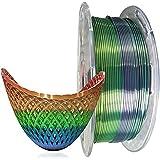 Kehuashina 3D Printer Silk Pla Filament Multi Color, Rainbow Like, 1kg Gradually Changing Multicolor Spool - 1.75mm Diameter