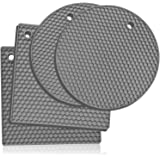Premium Silicone Trivet Mats: 4 Multi-Purpose Pot Holder, Oven Mitts & Hot Pads– Heat Resistant, Non-Slip Jar Opener, Gripper