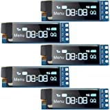 5 Pieces I2C Display Module 0.91 Inch I2C SSD1306 OLED Display Module Blue I2C OLED Screen Driver DC 3.3V~5V