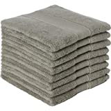 DOLOPL Dishcloths for Kitchen Cotton Terry Gray Dish Cloth Rags Set of 8 Absorbent Reusable 13x13 Inches Machine Washable Kit