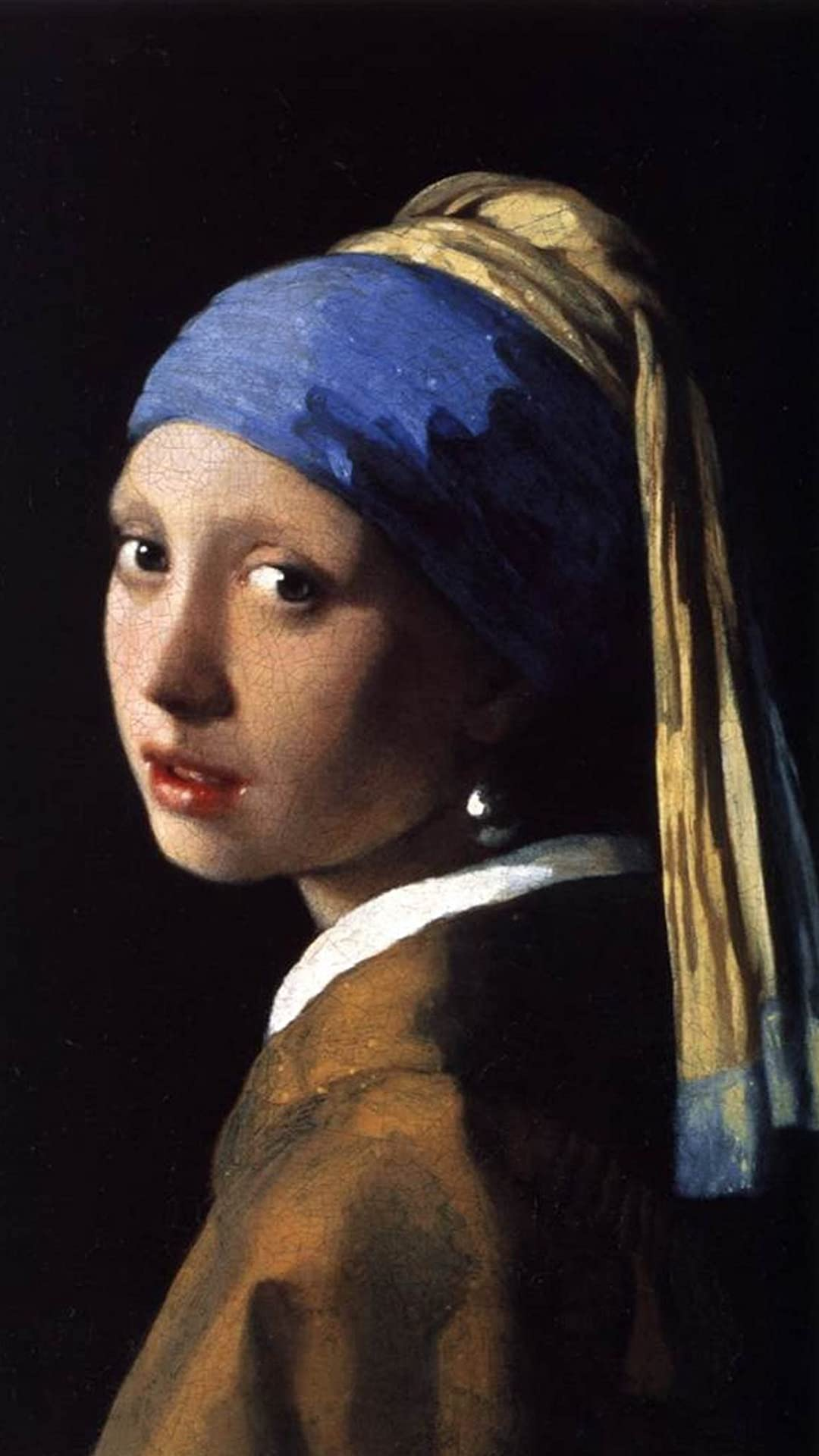 絵画 真珠の耳飾りの少女 フェルメール フルhd 1080 1920 スマホ壁紙 待