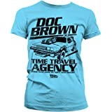 Back To The Future Officially Licensed Doc Brown Time Travel Agency Women T-Shirt