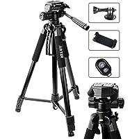 ARTZR 三脚 ビデオカメラ三脚 スマホ三脚 デジタル一眼レフ カメラ用 3Way雲台 コンパクトデジカメラ 3段階伸…