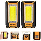 2pack LED Rechargeable Magnetic Work Light 40W 1500Lumens, Portable Work Light with 3 Lighting Modes, Job Site Lighting for C