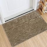 Indoor Doormat Front Door Mat Non Slip Rubber Backing Super Absorbent Mud and Snow Magic Inside Dirts Trapper Mats Entrance D