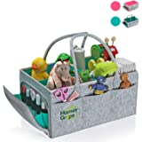 Baby Diaper Caddy and Changing Pad - Infant Portable Organizer with Multiple Pockets and Waterproof Dresser Table Cover - Was