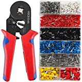 Crimping Pliers 0.25-10mm Ferrule Crimping Tool Kit 1200pcs Insulated Ferrules for Tube Type Needle Type