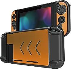 Betapleon Nintendo Switch用保護カバー Nintendo Switch用ケース プラスチックとアルミニウム素材 保護カバー 衝撃吸収 キズ防止 高防熱性 黄色い