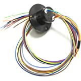 Taidacent 6 Wires12 Wires 2A 5A 10A 15A 20A 30A Slip Ring Collector Ring Rotary Electrical Contact Electrical Slip Ring Joint