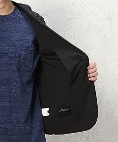 Stretch Nylon Jacket 3222-139-1909: Black