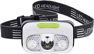 ヘッドライト usb充電式 4つ明るさモード IPX6防水 センサー機能 300ルーメン 角度調節可能