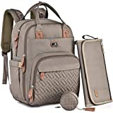 Diaper Bag Backpack with Portable Changing Pad, Pacifier Case and Stroller Straps, Dikaslon Large Unisex Baby Bags for Boys G