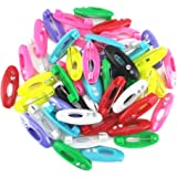 yueton 48pcs Assorted Color Fashion Plastic Cover Scarves Safety Pin Scarf Pins Hijab Pins Brooch Pins Safety Locking Baby Cl