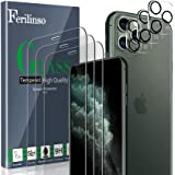 Ferilinso Screen Protector for iPhone 11 Pro Max with 3 Pack Camera Lens Protector, 3 Pack Tempered Glass Film for iPhone 11