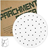 Numola 9 Inch Air Fryer Liners, 100 PCS Perforated Parchment Paper Compatible with COSORI, GoWISE USA, Instant Vortex, Ninja,