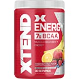 XTEND Energy BCAA Powder Knockout Fruit Punch - 125mg Caffeine + Sugar Free Pre Workout Muscle Recovery Drink with Amino Acid
