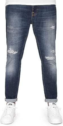 (ヌーディージーンズ)Nudie Jeans ブルートクヌート BRUTE KNUT メンズ デニム ダメージ加工 テーパード 《BLUE REED》43161-1175