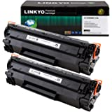 LINKYO Compatible Toner Cartridges Replacement for Canon 128 (Black, 2-Pack)