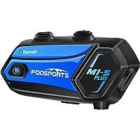 FODSPORTS バイク インカム M1-S Plus 最大6人同時通話 最大使用20時間 FMラジオ 音楽共有 強い…