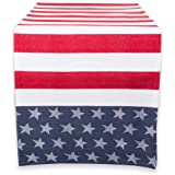 """DII 100% Cotton, Machine Washable, Table Runner For Summer Parties, 4th of July Events, Independence Day Decor 14x54"""" - Stars"""