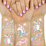 xo, Fetti Unicorn Party Favors - Temporary Tattoos for Kids - 26 styles | Birthday Party Supplies, Unicorn Favors Decorations