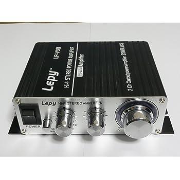 2013年NEW VERSION【LEPY LP-V3S】POWER IC TA8254使用 小型ステレオアンプ ブラック 並行輸入品