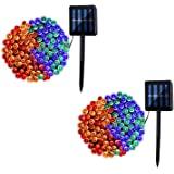 2 Pack Solar String Lights, 8 Modes Outdoor 42ft 100LED Waterproof Lights for Garden, Tree, Yard, Christmas, Wedding, Party (