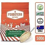 Foodsterr Organic Rolled Oats, 500g