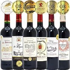 シニアソムリエ厳選 直輸入 全て金賞フランスボルドー 辛口赤ワイン6本セット((W0G630SE))(750mlx6本ワインセット)