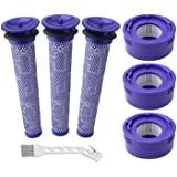 Wolfish 6 Pack Vacuum Filter Replacement Kit for Dyson V7 & V8 Absolute and Animal Cordless Vacuums, 3 HEPA Post Filter, 3 Pr