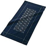 オリムパス製絲 刺し子キット テーブルセンター 紺 170