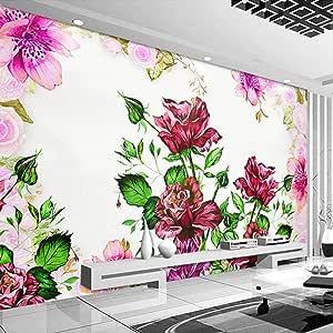 Ljunj カスタム3D壁画壁紙花牧歌的なリビングルームの寝室ダイニングルーム壁の装飾PapelデParede-250X175Cm
