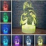 Naruto Cool Figure Uchiha Itachi 3D LED Illusion Desk Lamp 7 Color Change RGB Home Boys Room Decoration Night Light Fans Chil
