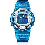 WIOR Kids Digital Watch, 50M Waterproof Outdoor Sports Watch, Multifunction Wristwatch with Alarm Clock, EL Backlight & Calen