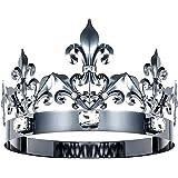 DcZeRong Queen Crown King Crowns Adult Women Men Birthday Crown Prom Queen King Crystal Metal Crown