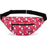 Large Fanny Pack with 4-Zipper Pockets Water-Resistant Adjustable Waist Pack Bag for Sports Workout Traveling Running Casual