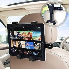Aodoor タブレットホルダー 車後部座席用 車載ホルダー 調節可能 360度回転式 6-11インチTablet用 スタンド iPad 2/3/4/mini/air Galaxy Tab/Google Nexusn等対応