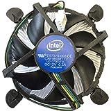 インテルE97379-003 Core i3/i5/i7 ソケット1150/1155/1156 デスクトップPCコンピュータ用アルミヒートシンクと3.5インチのファン付き4ピンコネクタCPUクーラー