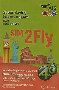 AIS プリペイドSIMカード データ通信 15日 4G/3G