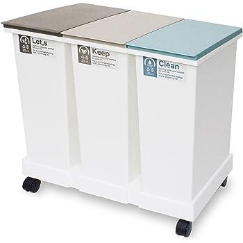 新輝合成 フタ付きゴミ箱 ネオカラー 分別 ごみ箱 オープンペール 台座キャスター付き 20L×3個セット
