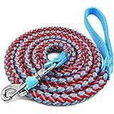 Mycicy Mountain Climbing Rope Dog Leash - 6 Foot Reflective Nylon Braided Heavy Duty Dog Training Leash for Large and Medium