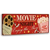 Vintage Canvas Wall Art Classic Fashion Cinema Film Reels Popcorn Poster Painting Print Canvas Painting Home Movie Theatre Ar