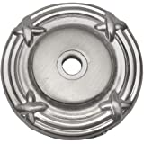 Cosmas 9468SN Satin Nickel Cabinet Hardware Knob Backplate/Back Plate - 10 Pack