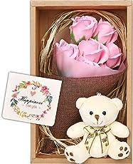 nicoly ソープフラワー 花束 ブーケ テディベア セット プレゼント ギフト お祝い