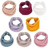 Muslin Baby Bandana Bibs, Multi-Use Scarf Bibs, Super Soft & Absorbent Drooling Bibs, Breathable Cotton Burp Cloths, Size Adj